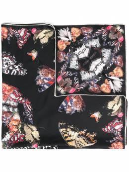 Alexander McQueen butterfly-print silk scarf 6383463001Q