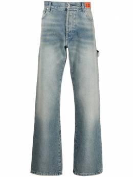 Heron Preston расклешенные джинсы с завышенной талией HMYA012R21DEN0024000