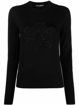 Dolce&Gabbana logo-embroidered jumper FX200ZJAVZR