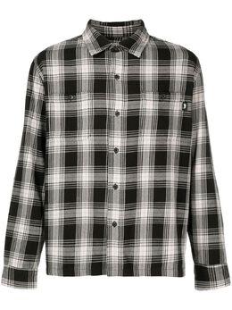 Stussy фланелевая рубашка в клетку 1110128