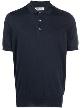 Brunello Cucinelli трикотажная рубашка поло M29800125CG360