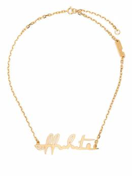 Off-White LOGO NECKLACE GOLD NO COLOR OWOB026R21MET0017600