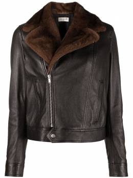 Saint Laurent shearling collar biker jacket 528452YCCS2