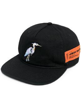 Heron Preston кепка с нашивкой-логотипом HMLB006R21FAB0031040