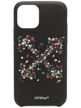 Off-White FLOWERS CARRYOVER 11PRO COVER BLACK MULT OWPA012R21PLA0011084