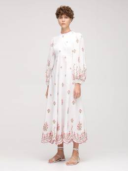 Платье Из Льна Zimmermann 73IRSQ050-UElOSyBFTUJST0lERVJZ0