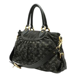 Louis Vuitton Black Monogram Denim Canvas Neo Cabby MM Bag 357774