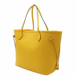 Louis Vuitton Yellow Epi Leather Neverfull MM Tote Bag 357743