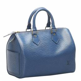 Louis Vuitton Blue Epi Leather Speedy 30 Bag 358791