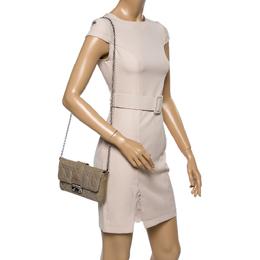 Dior Beige Cannage Patent Leather Miss Dior Promenade Clutch Bag 361192