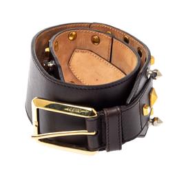 Gucci Dark Brown Leather Multi Studded Belt 70CM 361375