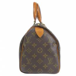 Louis Vuitton Brown Monogram Canvas Speedy 25 Boston Bag 357679