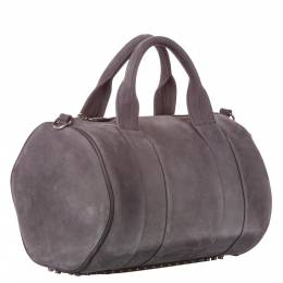 Alexander Wang Grey Leather Rockie Duffel Bag 358329