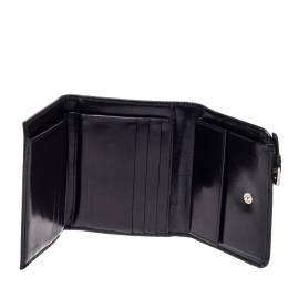 Prada Black Nylon and Leather Trifold Wallet 361782