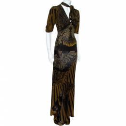 Roberto Cavalli Multicolor Prink Top and Skirt Set S 360377