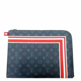 Louis Vuitton Monogram Cobalt Canvas Pochette Jules GM Clutch Bag 359057
