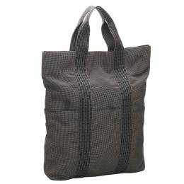 Hermes Grey/Black Canvas Fourre Tout Cabas Tote Bag 358479