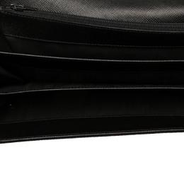 Prada Black Saffiano leather Vintage Saffiano Continental Wallet 358482