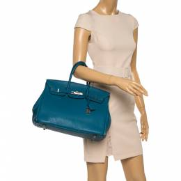 Hermes Cobalt Togo Leather Palladium Hardware Birkin 35 Bag 358647