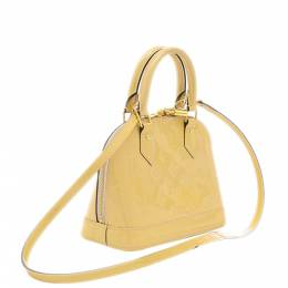 Louis Vuitton Yellow Monogram Vernis Alma BB Bag 357729