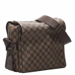 Louis Vuitton Brown Damier Ebene Canvas Naviglio Messenger Bag 358497