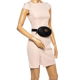 Gucci Black Matelasse Leather GG Marmont Belt Bag 360983