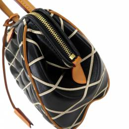 Louis Vuitton Black and Creme quilted leather Malletage Doc PM Bag 357735