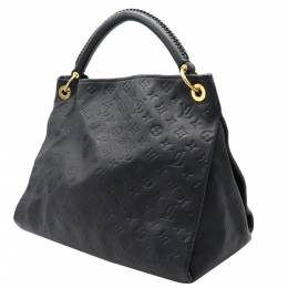 Louis Vuitton Black Monogram Leather Empreinte Artsy MM Tote Bag 357645