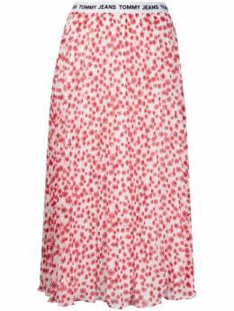 Tommy Jeans плиссированная юбка миди с цветочным принтом DW0DW08903