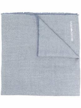 Emporio Armani шарф с узором в елочку 6352120A325