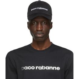 Paco Rabanne Black Tex Logo Cap 20ACAC037CO0373