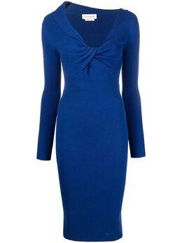 Alexander McQueen twist-detail mid-length dress 650269Q1AR9