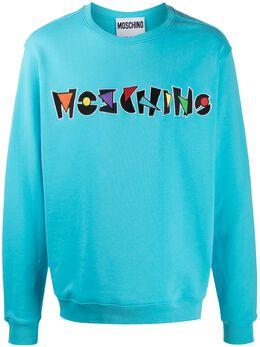 Moschino толстовка с вышитым логотипом J17322027