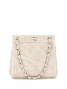 Chanel Pre-Owned стеганая сумка-тоут 1998-го года с логотипом CC 5994462