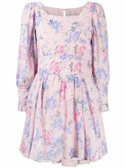 Loveshackfancy платье с цветочным принтом LD857614