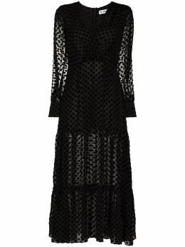 Rixo полупрозрачное платье миди Elsie в горох RIX100661211014SILK