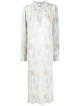 Ganni плиссированное платье макси из ткани жоржет F5569