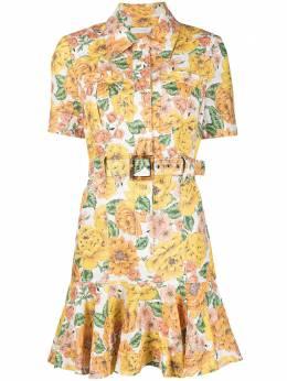 Zimmermann платье-рубашка с цветочным принтом 9369DPOP
