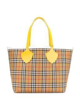 Burberry большая сумка на плечо в клетку 3913363
