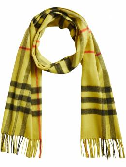 Burberry overdyed exploded check cashmere scarf 3993742