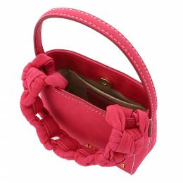 Jacquemus Pink Leather Le Petite Sac Noeud Braided Handle Mini Bag 361758