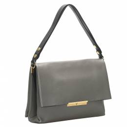 Celine Grey Leather Blade Flap Bag 358547