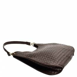 Bottega Veneta Brown Intrecciato Leather Bag 360151