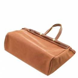 Hermes Brown Leather Herbag Cabas Tote bag 360171