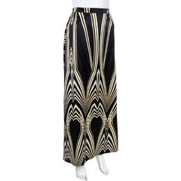 Roberto Cavalli Multicolor Print Silk Flared Skirt M 361163