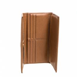 Carolina Herrera Tan Leather Continental Wallet 362154
