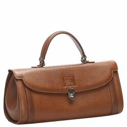 Burberry Brown Calf Leather Satchel Bag 358640