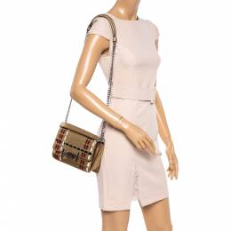 Tod's Gold Leather Mini Double T Shoulder Bag 362114