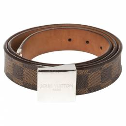 Louis Vuitton Damier Ebene Canvas Buckle Belt 90CM 361827