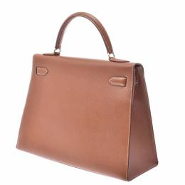 Hermes Brown Courchevel Leather Kelly Sellier 32 Bag 337708